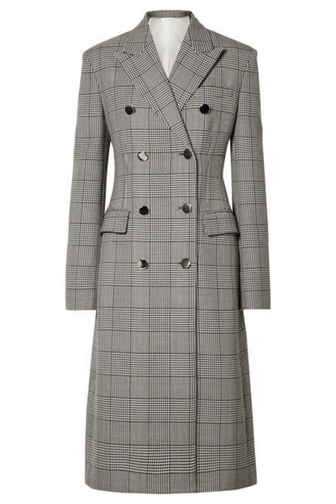 CALVIN KLEIN 205W39NYC - Prince Of Wales Checked Wool And Silk-blend Coat - Gray