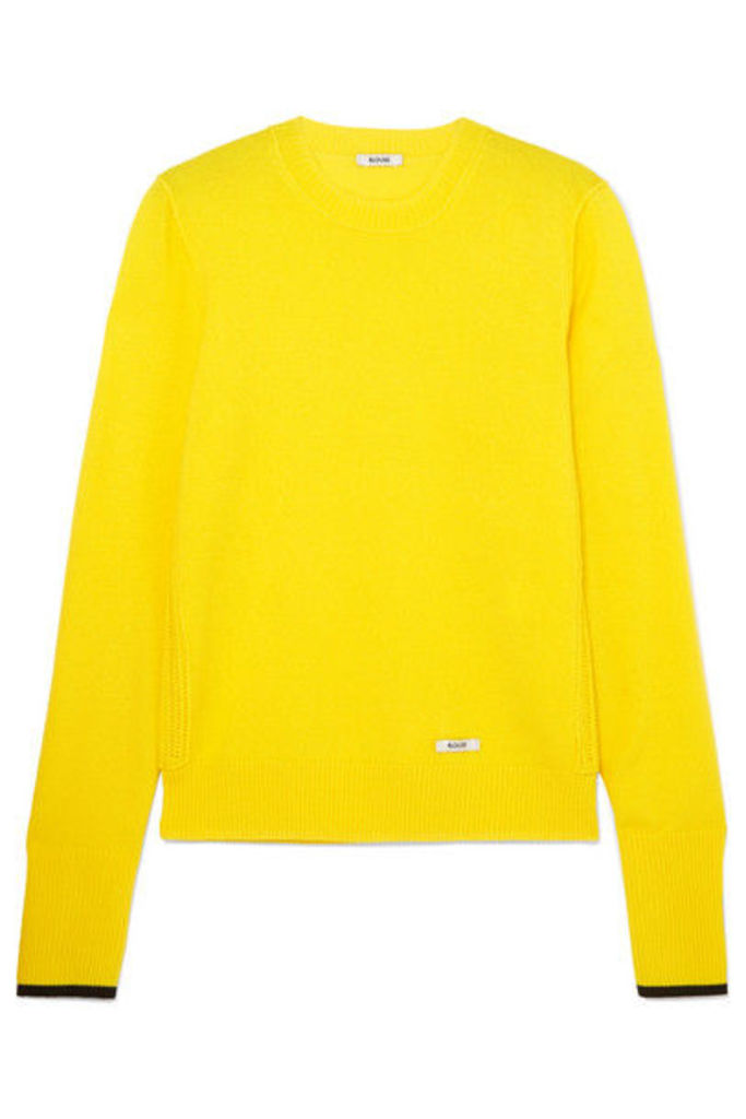 BLOUSE - Glory Cashmere And Wool-blend Sweater - Yellow