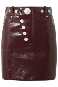 Alexander Wang - Patent-leather Mini Skirt - Burgundy