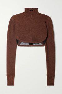 alexanderwang.t - Hooded Layered Wool And Cotton-blend Jersey Mini Dress - Black