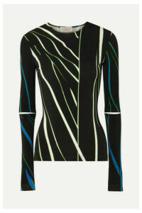 Preen by Thornton Bregazzi - Dee Cutout Printed Stretch-jersey Top - Black