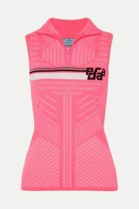 Prada - Intarsia Stretch-knit Top - Pink