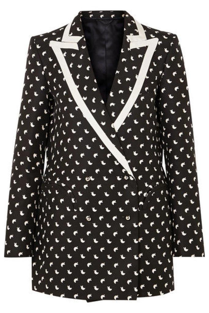 Blazé Milano - Everyday Faille-trimmed Printed Silk Blazer - Black