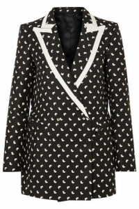 Blazé Milano - Everyday Faille-trimmed Printed Silk Blazer - Black