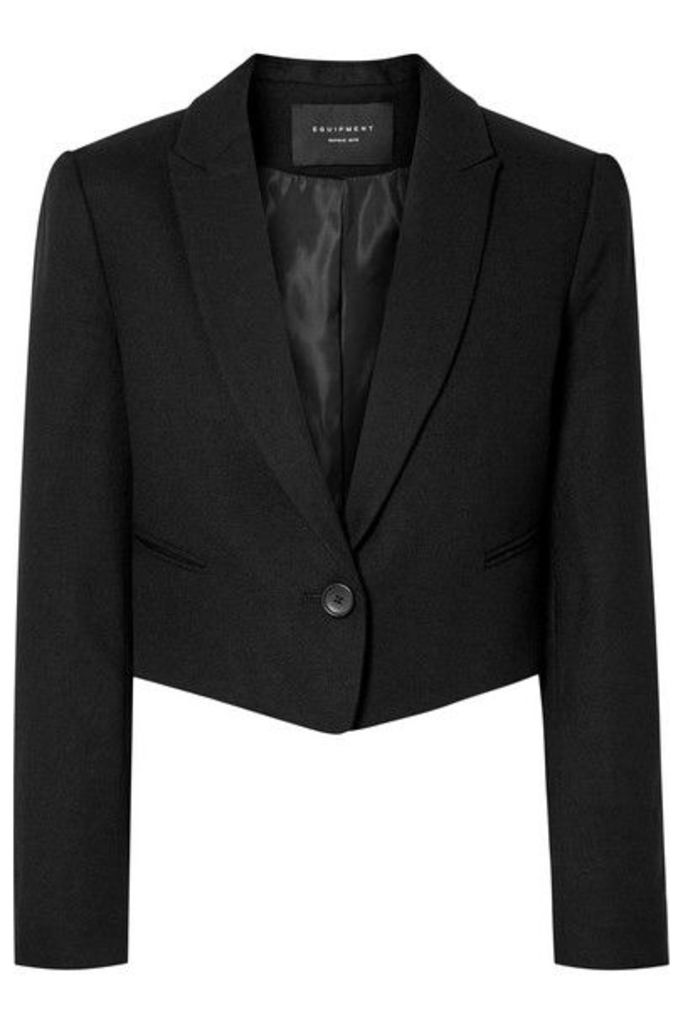 Equipment - Wright Cropped Wool Blazer - Black