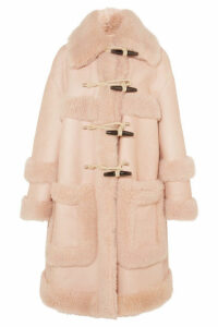 Bottega Veneta - Leather And Shearling Duffle Coat - Blush