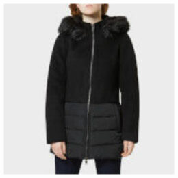 Superdry Women's Wool Padded Hybrid Coat - Black