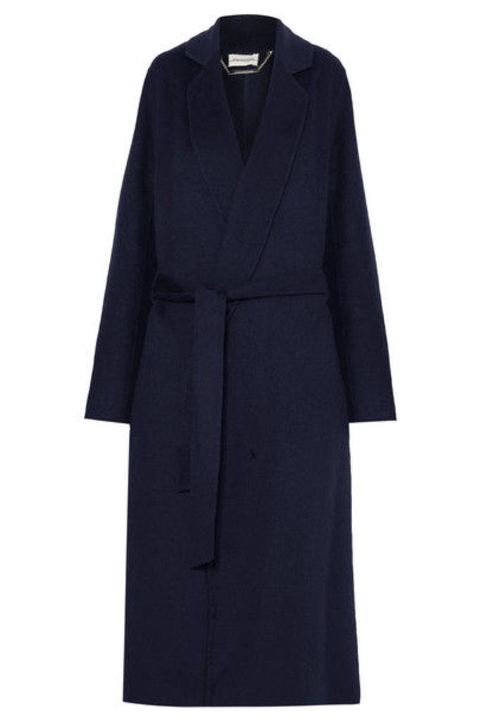 By Malene Birger - Vitala Belted Wool-blend Coat - Navy