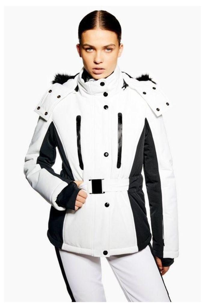 Womens **Monochrome Colour Block Jacket By Topshop Sno - Monochrome, Monochrome