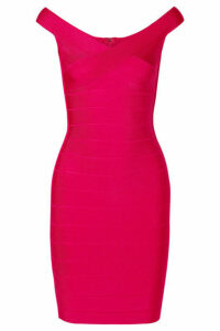 Hervé Léger - Bandage Mini Dress - Bright pink