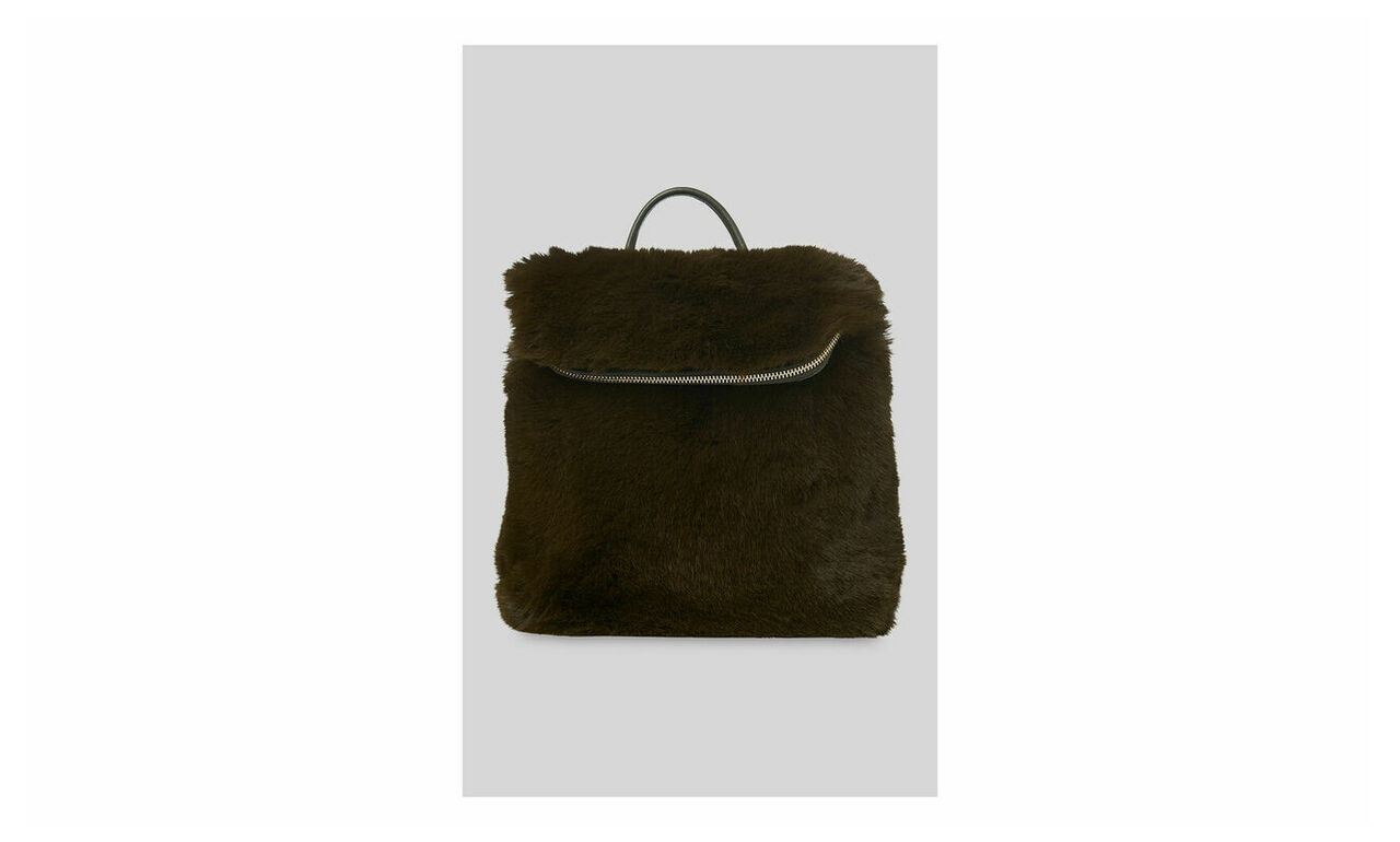 Faux Fur Mini Verity Backpack
