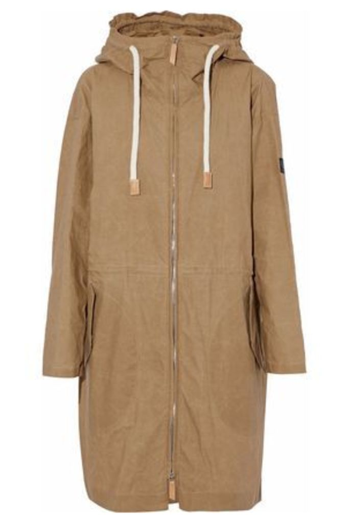 Belstaff Woman Cotton Hooded Jacket Sand Size 40