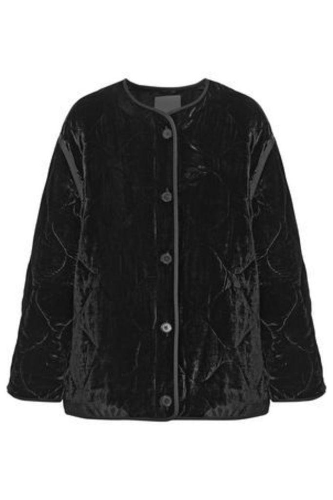Sandro Woman Jacky Quilted Velvet Jacket Black Size 3
