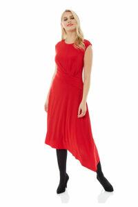 Twist Waist Asymmetric Dress