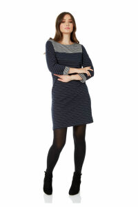 Contrast Yoke Stripe Dress