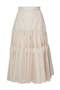 CALVIN KLEIN 205W39NYC Printed Silk Midi Skirt