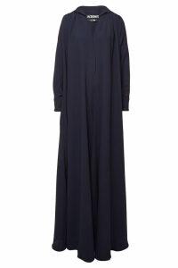 Jacquemus L'Ensemble Djellaba Virgin Wool Maxi Dress
