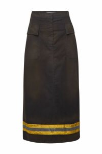 CALVIN KLEIN 205W39NYC Fireman Midi Skirt with Cotton