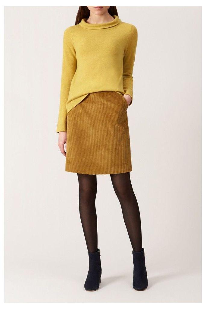 Womens Hobbs Yellow Hannah Skirt -  Yellow