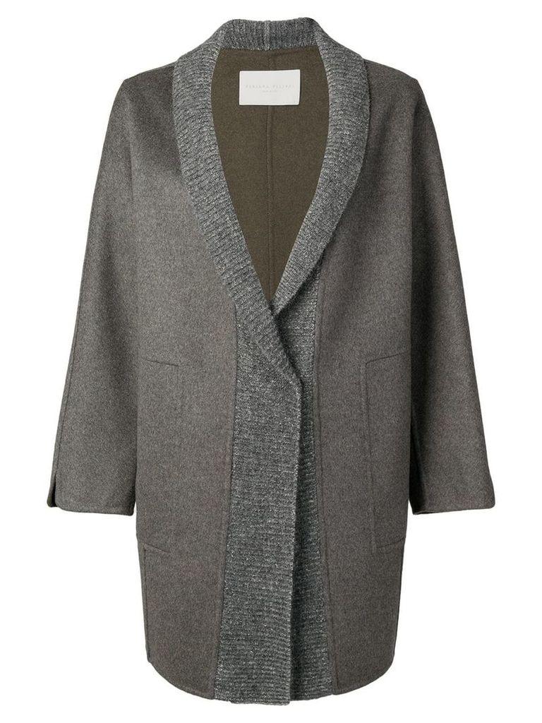 Fabiana Filippi oversized cardigan coat - Grey