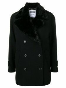 Moschino winter double-breasted coat - Black