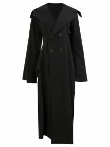 Yohji Yamamoto double breasted coat - Black