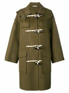Bottega Veneta classic duffel coat - Green