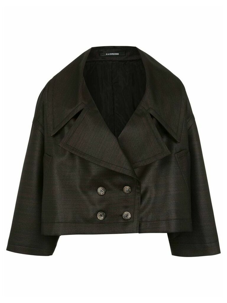 À La Garçonne Changeant cropped coat - Black