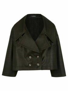 À La Garçonne Changeant cropped coat - Black
