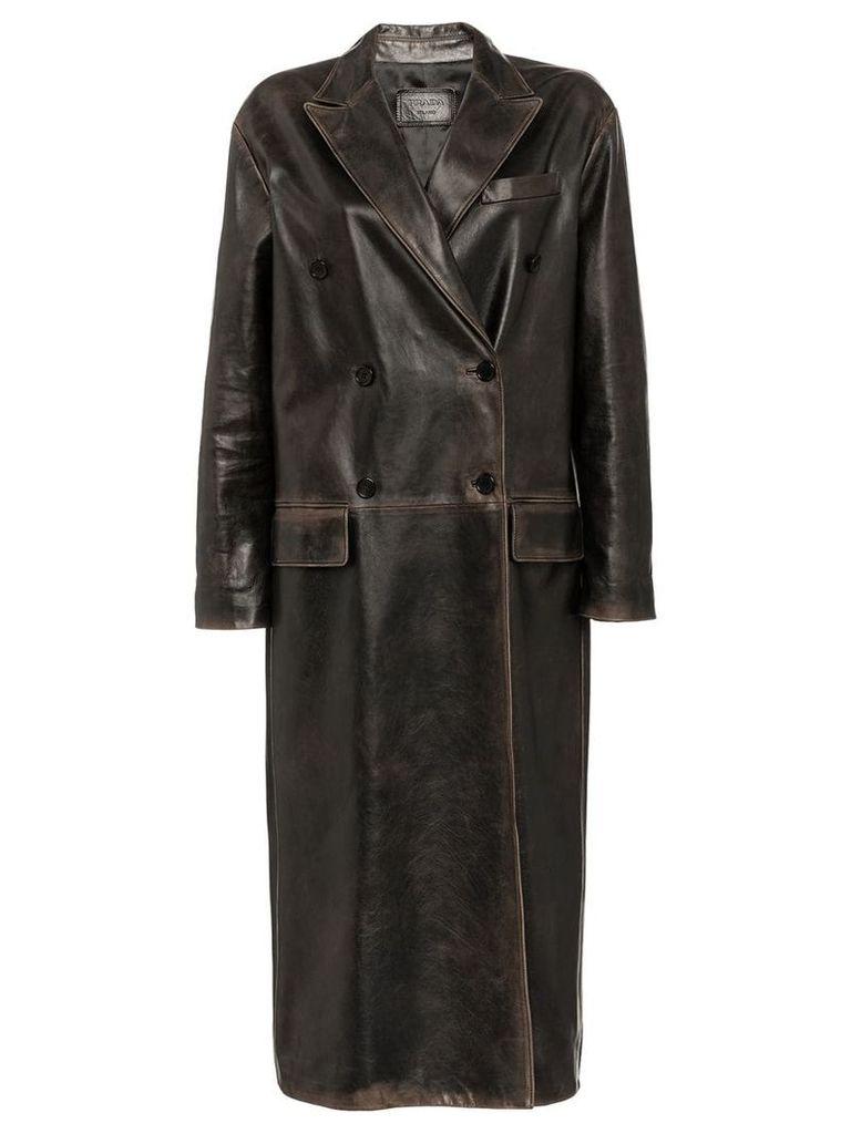Prada double-breasted coat - Grey