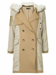 Frei Ea fur hood lining coat - Yellow