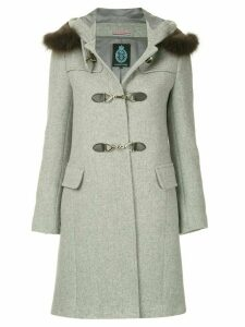 Guild Prime fur collar double breasted coat - Grey