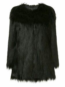 Unreal Fur Wanderlust faux fur coat - Black