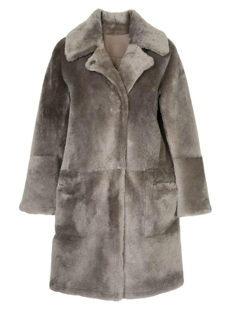 Sylvie Schimmel reversible fur coat - Brown