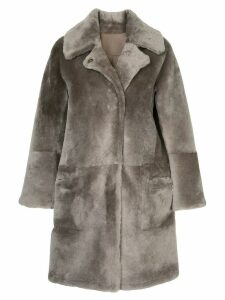 Sylvie Schimmel reversible fur coat - Brown