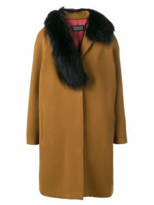 Gianluca Capannolo fox fur trim coat - Brown