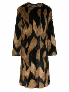Givenchy oversized faux fur coat - Brown