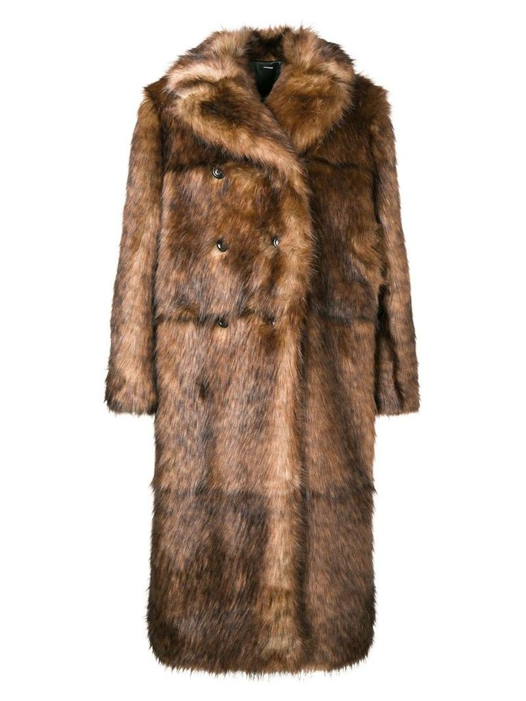 Kwaidan Editions faux fur jacket - Brown