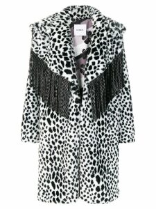 Ainea leopard faux fur coat - Black