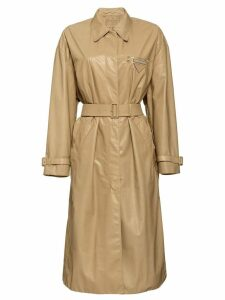 Prada Leather trench coat - Neutrals