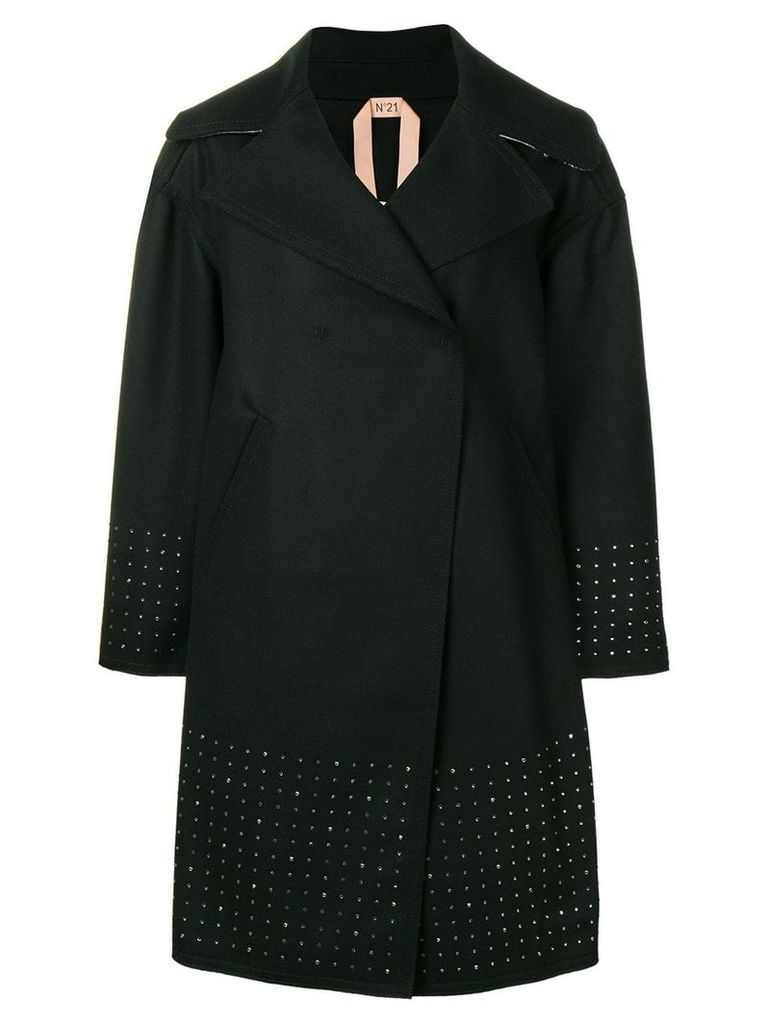 Nº21 oversized double-breasted coat - Black