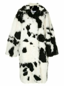 Jil Sander cow pattern coat - Black