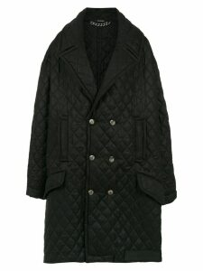 À La Garçonne oversized quilted coat - Black