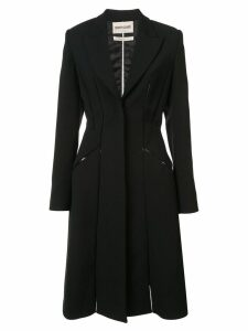 Roberto Cavalli seam detailed fitted coat - Black