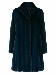 Liska classic winter fur coat - Blue