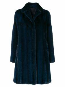 Liska classic winter fur coat - Blue