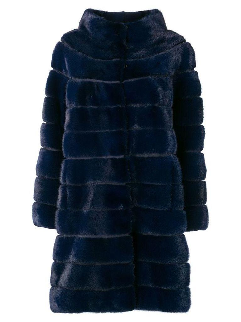 Liska Antonia fur coat - Blue