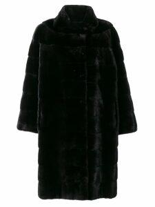Liska Ella fur coat - Black