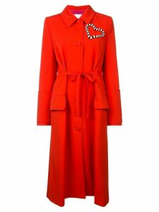 Carolina Herrera heart embellished coat - Red