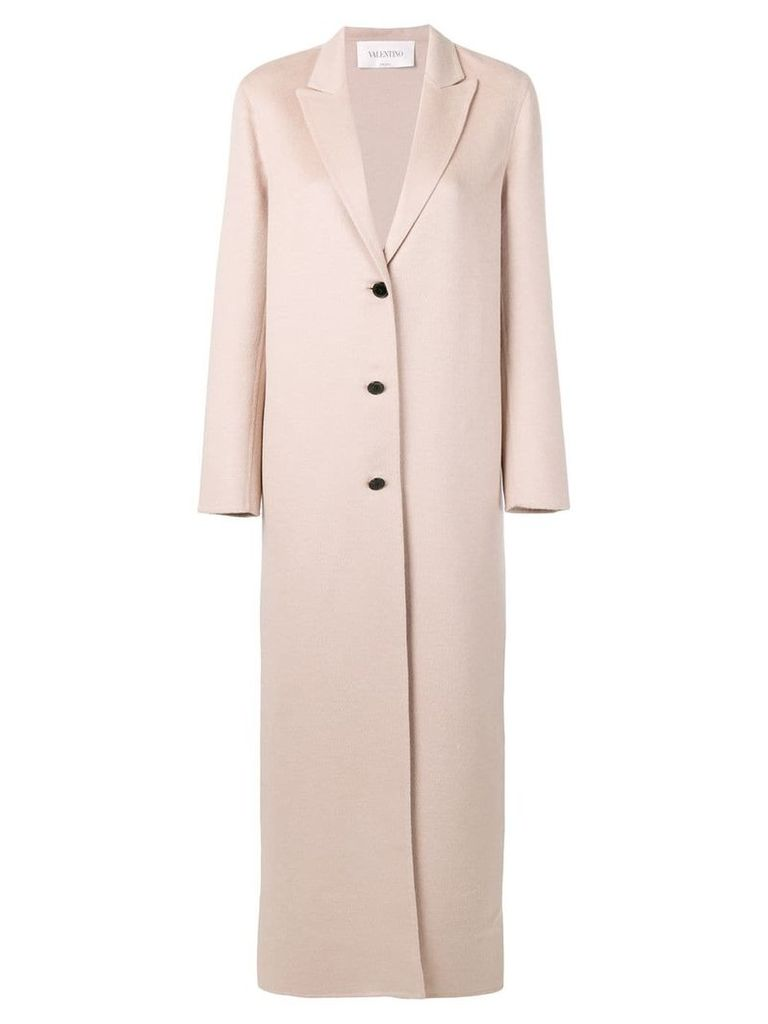 Valentino long buttoned coat - Neutrals